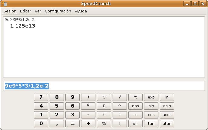 Speedcrunch en Linux