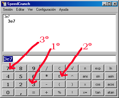 Para qué sirve la tecla EXP de las calculadoras científicas?