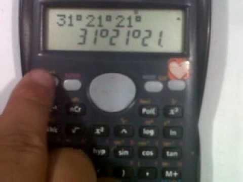 Cómo manejar ángulos (y tiempos) con la calculadora