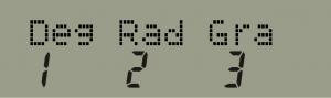 Configuración de modo angular en la calculadora científica